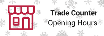 Trade Counter Christmas Hours