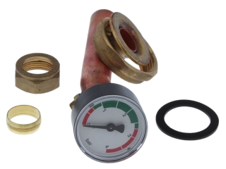 1015707 Worcester 87161200530 Pressure Gauge/Drain Assembly