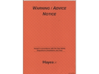1640160 Hayes 663012B Warning/Advice Notice (Bulk Pack Of 5 Pads)
