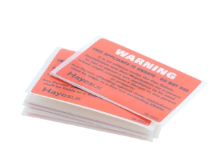 1640230 Hayes 66.3023 Warning Unsafe Appliance Labels (Pack Of 10) 66.3023