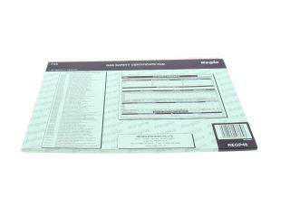 4270434 Regin Regp46 Gas Safety/Landlords Certificate Pad Regp46