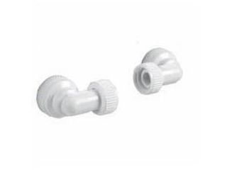 7020008 Aqualisa 022502 Inlet Body Elbow And Seal (Pair) - 22Mm - White 022502